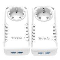Powerline-адаптер TENDA P1002P-KIT, 200Мбит/с, Gigabit (2шт.)