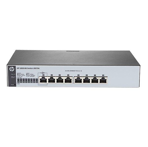 Купить КоммутаторHP1820-8GSmartSwitch, 8xGEports, L2, InlinePoE, LTWarranty (J9979A)