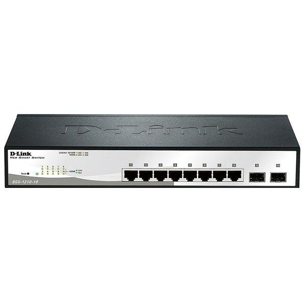 Купить КоммутаторD-LinkDGS-1210-10/C8x1GE, 2xSFPSmartIII (DGS-1210-10)
