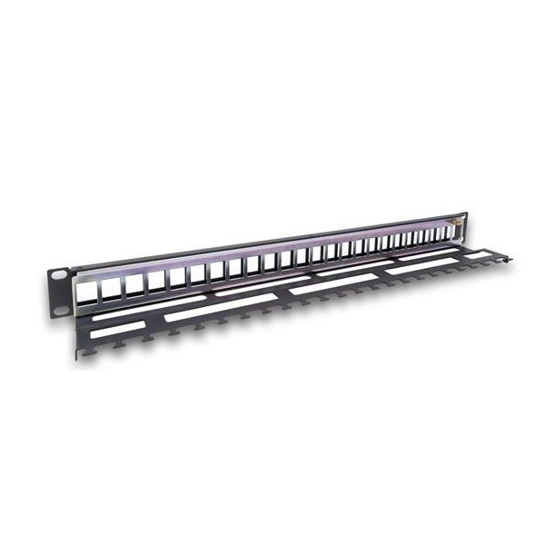 Купить Патч-панель Legrand RJ45, 19 , 1U, UTP, 24 порта с пластиковим органайзером, наборная, LINKEO (632791)
