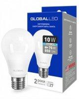 Светодиодная лампа GLOBAL A60 10W яркий свет 220V E27 AL (1-GBL-164)