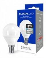 Светодиодная лампа GLOBAL G45 F 5W яркий свет 220V E14 AP (1-GBL-144)