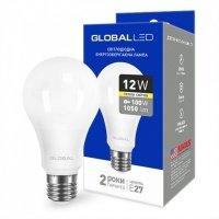 Светодиодная лампа GLOBAL A60 12W мягкий свет 220V E27 AL (1-GBL-165)