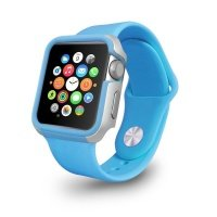 Чехол-бампер Ozaki O!coat для Apple Watch 42cm-Shockband Blue