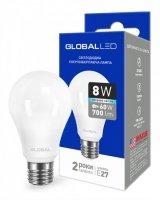 Светодиодная лампа GLOBAL A60 8W яркий свет 220V E27 AL (1-GBL-162)
