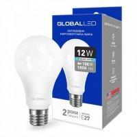 Светодиодная лампа GLOBAL A60 12W яркий свет 220V E27 AL (1-GBL-166)