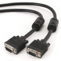 Кабель VGA Cablexpert M/M, двойное экранирование, с 2-мя феритами, черный цвет, 10м (0503183)