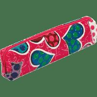 Пенал ZiBi прямокутний 19 x 4 x 3 см, штучна шкіра, рожевий із сердечками (ZB16.0455)