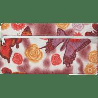 Пенал ZiBi плоский 21 x 11 х 1 см, текстильний, бузковий з метеликами (ZB16.0453)