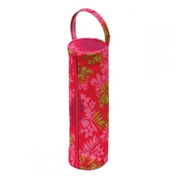 Пенал ZiBi круглый 20 x 6 x 6 см, текстильный, розовый с цветами (ZB16.0441) фото