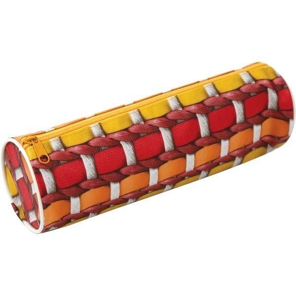 Пенал ZiBi круглый 20 x 6 x 6 см, текстильный с рисунком (ZB16.0438) фото