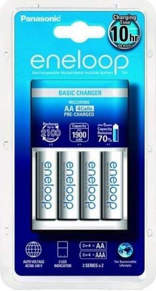 Зарядное устройство Panasonic Basic Charger+ Eneloop 4AA 1900 mAh New  - купить со скидкой