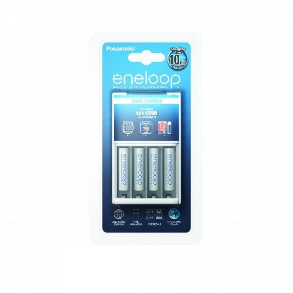 Купить Зарядное устройство Panasonic Basic Charger + Eneloop 4AAA 750 mAh New