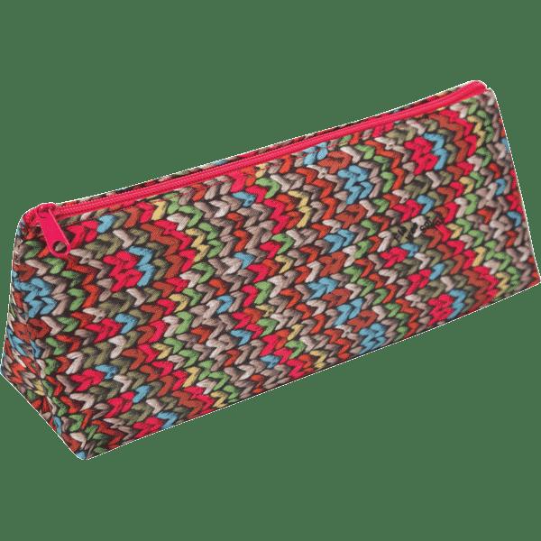 Пенал ZiBi трикутний 19 x 6,5 x 4,5 см, текстильний, бежева в'язка (ZB16.0472) фото