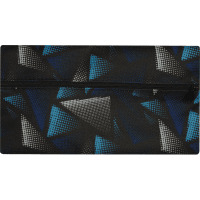 Пенал ZiBi плоский 21 x 11 х 1 см, текстильный, черный с синим и серым (ZB16.0454)