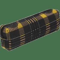 Пенал ZiBi прямокутний 19 x 6 x 4 см, текстильний, чорно-жовта клітинка (ZB16.0467)