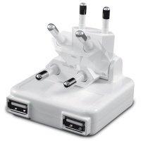ЗУ сетевое Macally 2.1A Dual USB AC Charger White