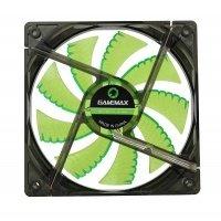 Вентилятор для корпуса GAMEMAX 120 мм зеленая подсветка (GMX-WF12G)