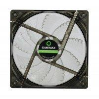 Вентилятор для корпусу GAMEMAX 120 мм біле підсвічування (GMX-WF12W)