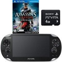 Игровая приставка SONY PS Vita Black WiFi + 4 Gb + Assasin`s Creed III: Liberation