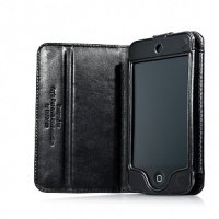 Чехол GlobalCase для iPhone 4 GlobalCase Bi-fold Callid, Black