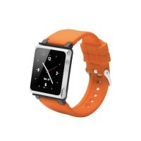 Чехол к iPod iWatchZ Ремень Q2-collection soft-touch silicone для Nano 6 orange
