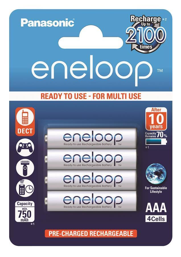 Аккумулятор Panasonic Eneloop AAA 750 mAh 4BP фото