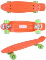 Скейтборд GO Travel оранжево-зеленый (LS-P2206OGT)
