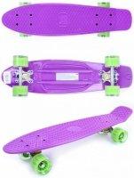 Скейтборд GO Travel фиолетово-зеленый (LS-P2206VGT)