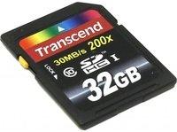Карта памяти TRANSCEND SDHC 32GB Class 10 R30 MB/s (TS32GSDHC10)