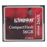 Flash карточка Compact Flash TRANSCEND 16 Гб (266X)