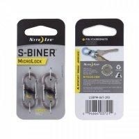 Набор карабинов Nite Ize S-Biner MicroLock 2 pk стальной (94664026681)