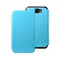 Чехол Gissar для Galaxy Note 2 N7100 Flora Stand Blue