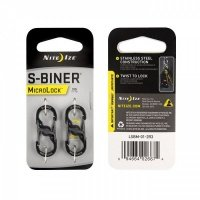 Набор карабинов Nite Ize S-Biner MicroLock 2 pk черный (94664026674)