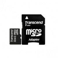 Карта памяти Transcend microSDHC 32GB Class 4 + SD-адаптер