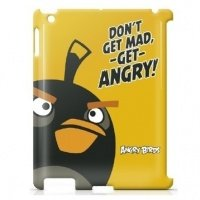 Чехол GEAR4 для планшета iPad New GEAR4 Angry Birds Black/Orang