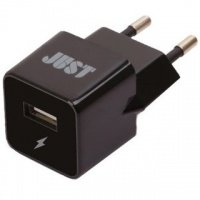 ЗУ сетевое МС JUST Atom USB Wall Charger (1A/5W, 1USB) Black