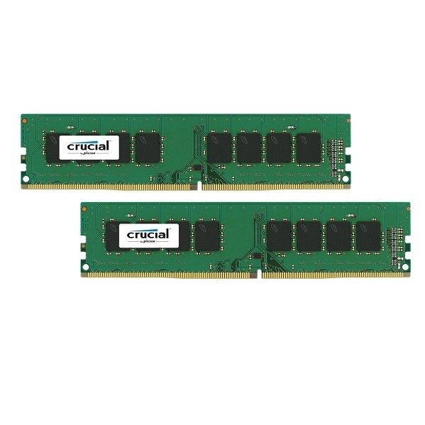 Купить Оперативная память - ОЗУ, Память для ПК Micron Crucial DDR4 2400 16Гб (8Гбx2) KIT Retail (CT2K8G4DFS824A)