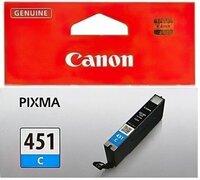 Картридж струйный CANON CLI-451C Cyan PIXMA MG5440/MG6340 (6524B001)