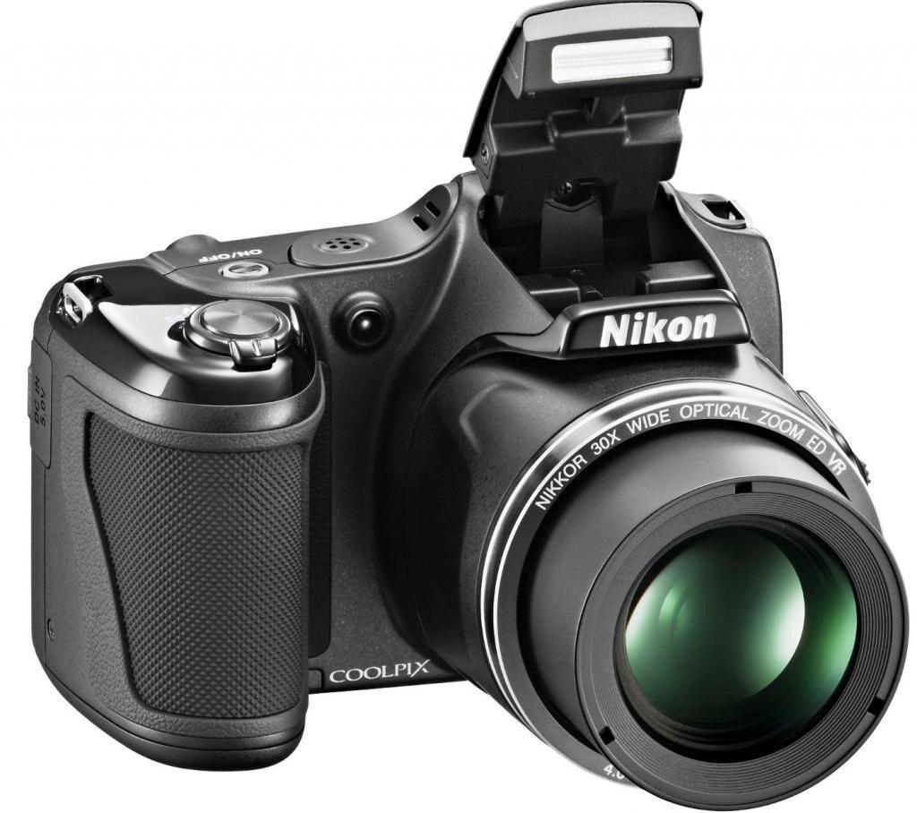 ≡ Фотоапарат NIKON Coolpix L820 Black (VNA333E1) – купити в Києві ... 97bf166431fde