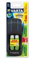 Зарядное устройство VARTA Pocket Charger + 2AA 2100 mAh +2AAA 800 mAh