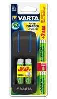 Зарядний пристрій VARTA Pocket Charger + 2AA 2100 mAh + 2AAA 800 mAh