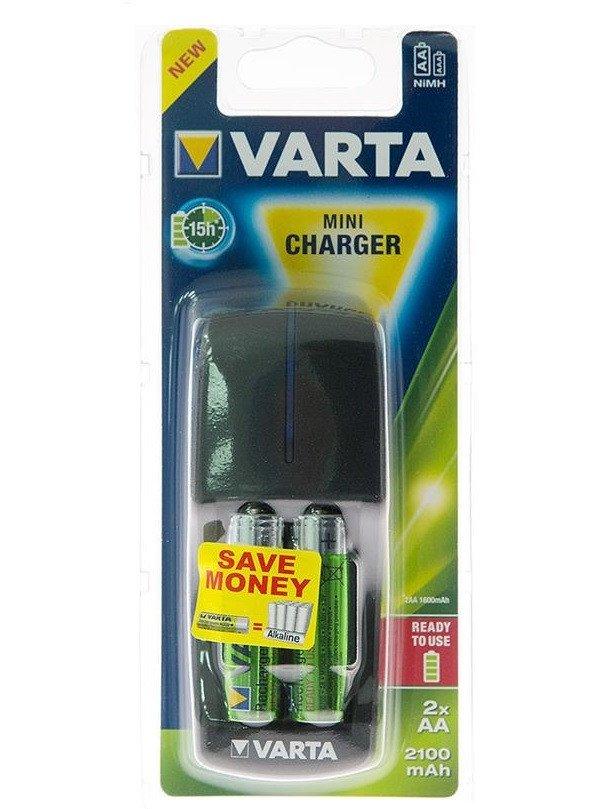 Зарядний пристрій VARTA Mini Charger + 2AA 2100 mAhфото