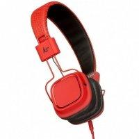 Наушники KitSound Clash On-Ear Headphones with In-line Mic (Red)