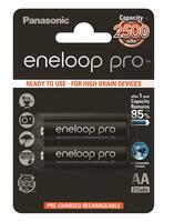 Аккумулятор Panasonic Eneloop Pro AA 2500 mAh 2BP (шт.)
