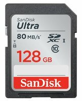 Карта памяти SANDISK SDXC 128GB Class 10 Ultra UHS-I R80/W10 MB/s (SDSDUNC-128G-GN6IN)