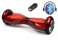Гироборд ProLogix Base-X 6.5 дюймов с подсветкой и колонкой + пульт и сумка, красный