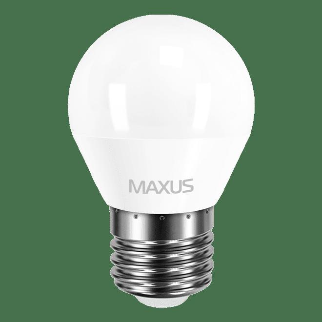 Светодиодная лампа MAXUS G45 F 4W мягкий свет 220V E27 (1-LED-549) фото 1