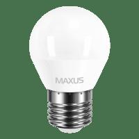 Светодиодная лампа MAXUS G45 F 4W мягкий свет 220V E27 (1-LED-549)