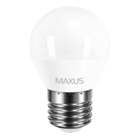 Комплект светодиодных ламп MAXUS G45 F 4W мягкий свет 220V E27 (по 3шт.) (3-LED-549)